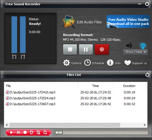 Start Recording Streaming Audio