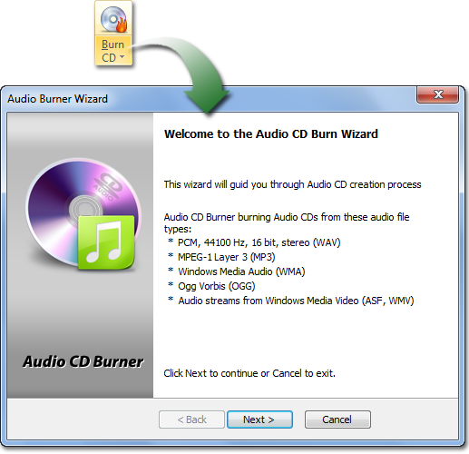 Audio CD Burner