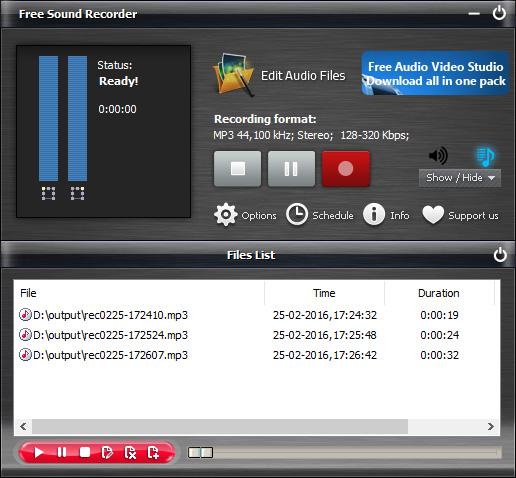 Start Sound Recording