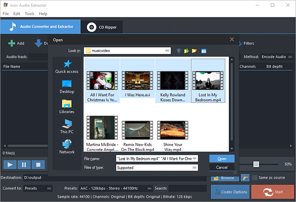 How to Extract Audio from Video - Input Video Files